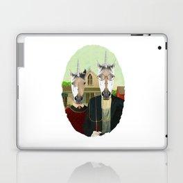 American Gothic Unicorn Laptop & iPad Skin