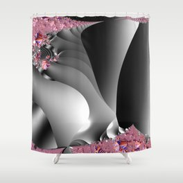 Black and white with embellishments Shower Curtain