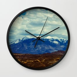 La Sal Mountains Wall Clock