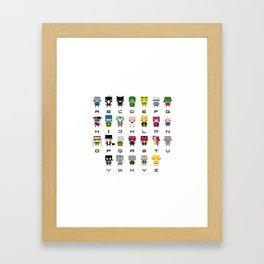 Pixel Supervillain Alphabet 2 Framed Art Print
