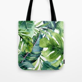 Tropical Jungle Leaves Tote Bag
