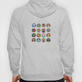Set of animals faces circle icons set in Trendy Flat Style. zoo Hoody