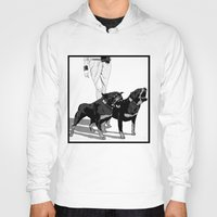 rottweiler Hoodies featuring Fashion Rottweiler  by Gregory Casares