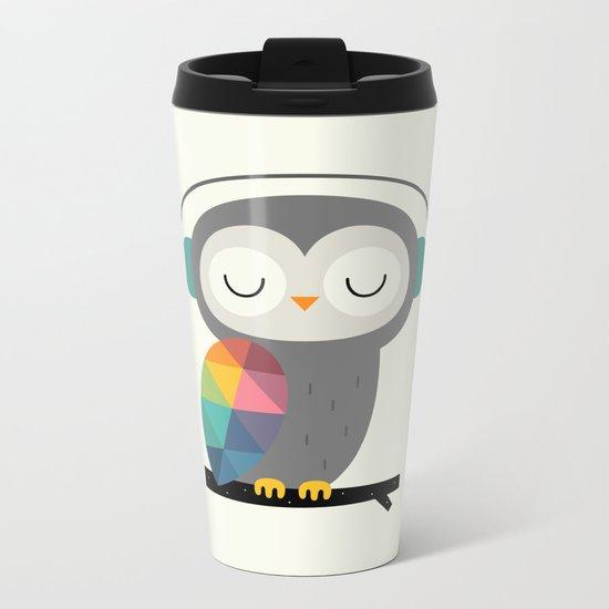 Owl Time Metal Travel Mug