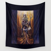virgo Wall Tapestries featuring VIRGO  by SOMNIVAGRIOUS