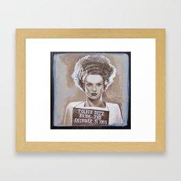 Bride of Frankenstein Gets Busted! Framed Art Print