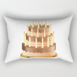 Big chocolate cake Rectangular Pillow