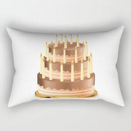 Big chocolate cake Rectangular Pillow