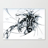 spawn Canvas Prints featuring Spawn by Omnivium
