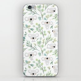 Koala and Eucalyptus Pattern iPhone Skin