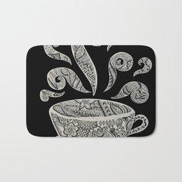 But first, Coffee - tea coffee lover zentangle Bath Mat