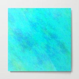 Aqua Color Metal Print
