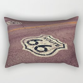 The mythical Route 66 sign in Texas, USA. Rectangular Pillow