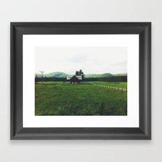 Farm in Haliburton Highlands Framed Art Print