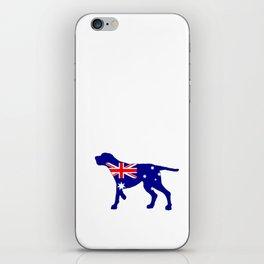 Australian Flag - Redbone Coonhound iPhone Skin