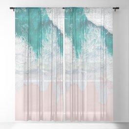 Pink Sand Beach Sheer Curtain