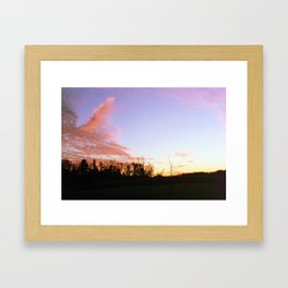 Pink Lavender Framed Art Print