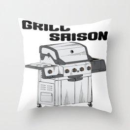 BBQ Season Throw Pillow