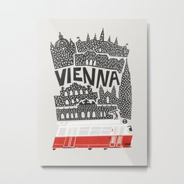 Vienna City Print Metal Print