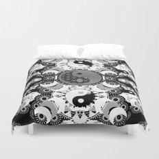YinYang Sacred Geometry Totem Duvet Cover