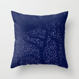 Shape of trees with garland lights on blue background Throw Pillow