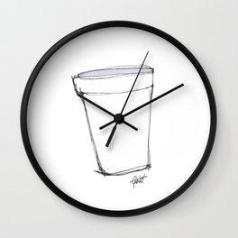 """""""Lean"""" Foam Cup Purple / White Wall Clock"""