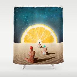 Desert Moonlight Meditation Shower Curtain
