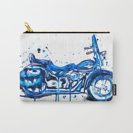 Blue Motorcycle Carry-All Pouch