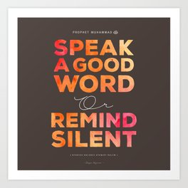 Remind Silent Art Print