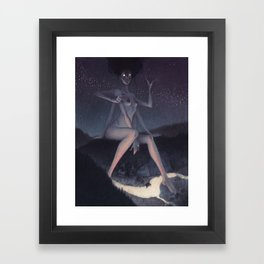 Janitor of lunacy Framed Art Print