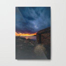 Southwest Lake Sunset Metal Print
