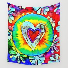 Love Hippie Wall Tapestry