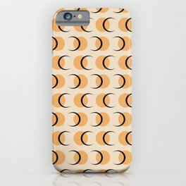 Full / Crescent Moon Abstract Pattern Orange iPhone Case