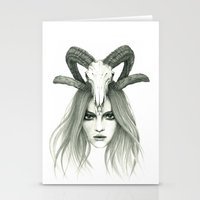 zodiac Stationery Cards featuring Zodiac - Aries by Simona Borstnar