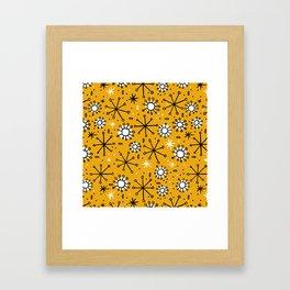Mid Century mustard Framed Art Print