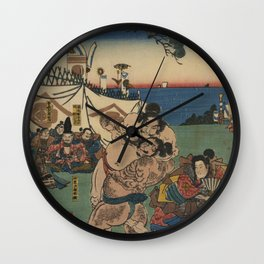 A game of Sumo Wrestling. Wall Clock