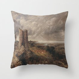 John Constable - Hadleigh Castle, The Mouth of the Thames--Morning after a Stormy Night Throw Pillow