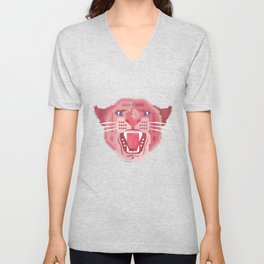 Pink Panther Pattern Unisex V-Neck
