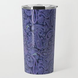 purple paisley Travel Mug