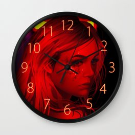 The Neon Demond Wall Clock