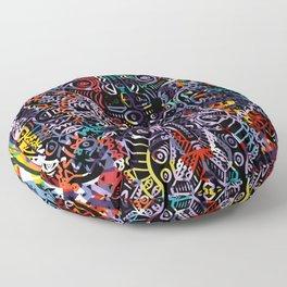 Graffiti Mandala Urban Street Art Maya by Emmanuel Signorino Floor Pillow