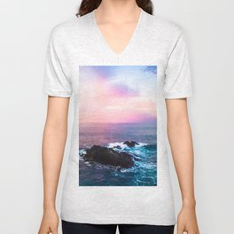 Sunset on the Bay of Biscay Unisex V-Neck