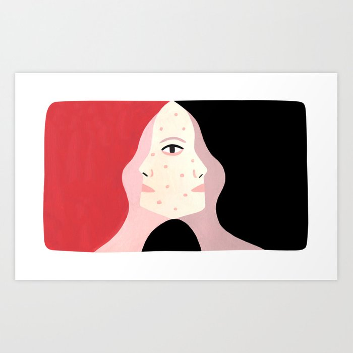 Face to Face Art Print