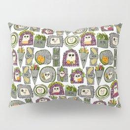 veggie sushi white Pillow Sham