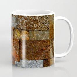 Metallic Textures Mosaic Collage by Annalisa Ramondino Coffee Mug
