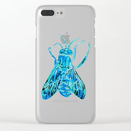 Horse Fly Clear iPhone Case