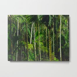Tropical Bamboo Palm Forest Metal Print