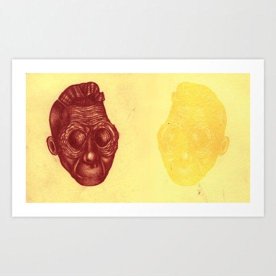 Faded reflection Art Print