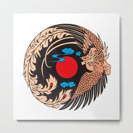Phoenix Firebird Mythology Metal Print