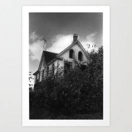 House but Not a Home Art Print